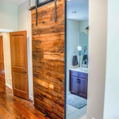 Kitchen Sliding Shelves Countertops Rough Sawn Door | Porter Barn Wood