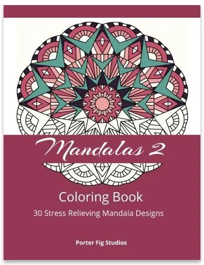 Mandalas Stress Relieving Coloring Book 2