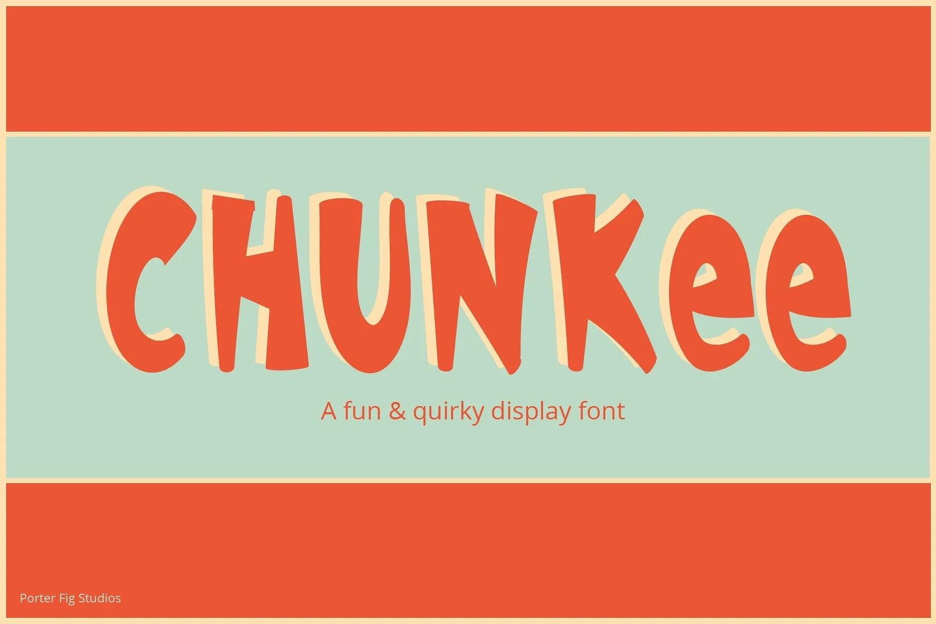 chunkee bold font