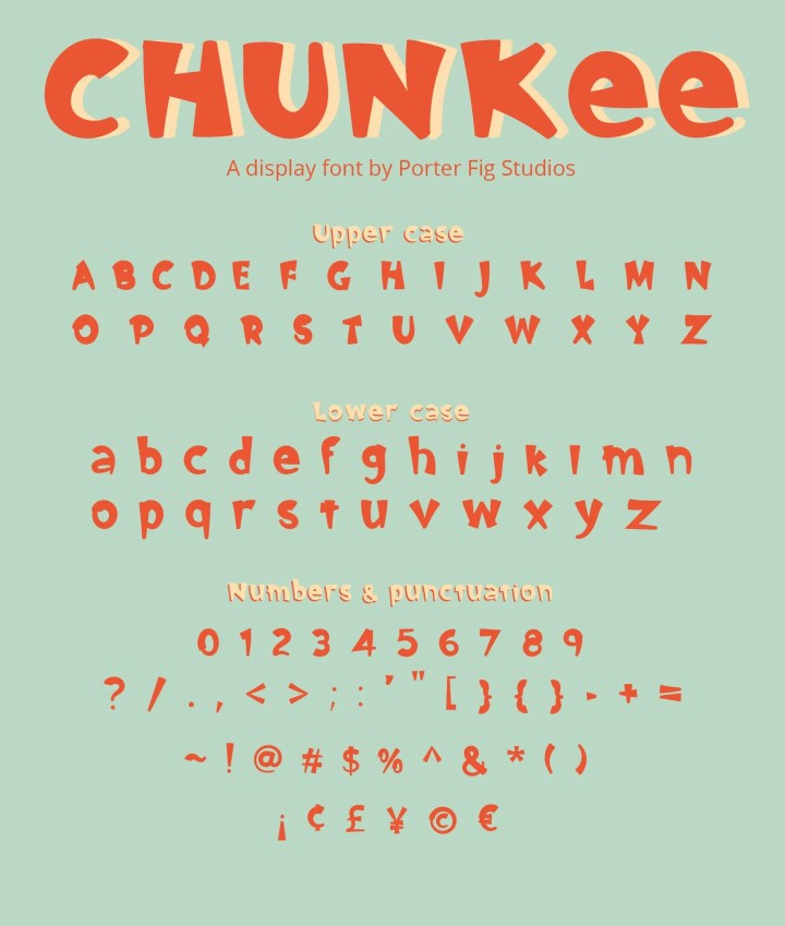 chunkee bold font preview