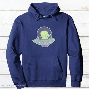 Alien hoodie by porter fig studios