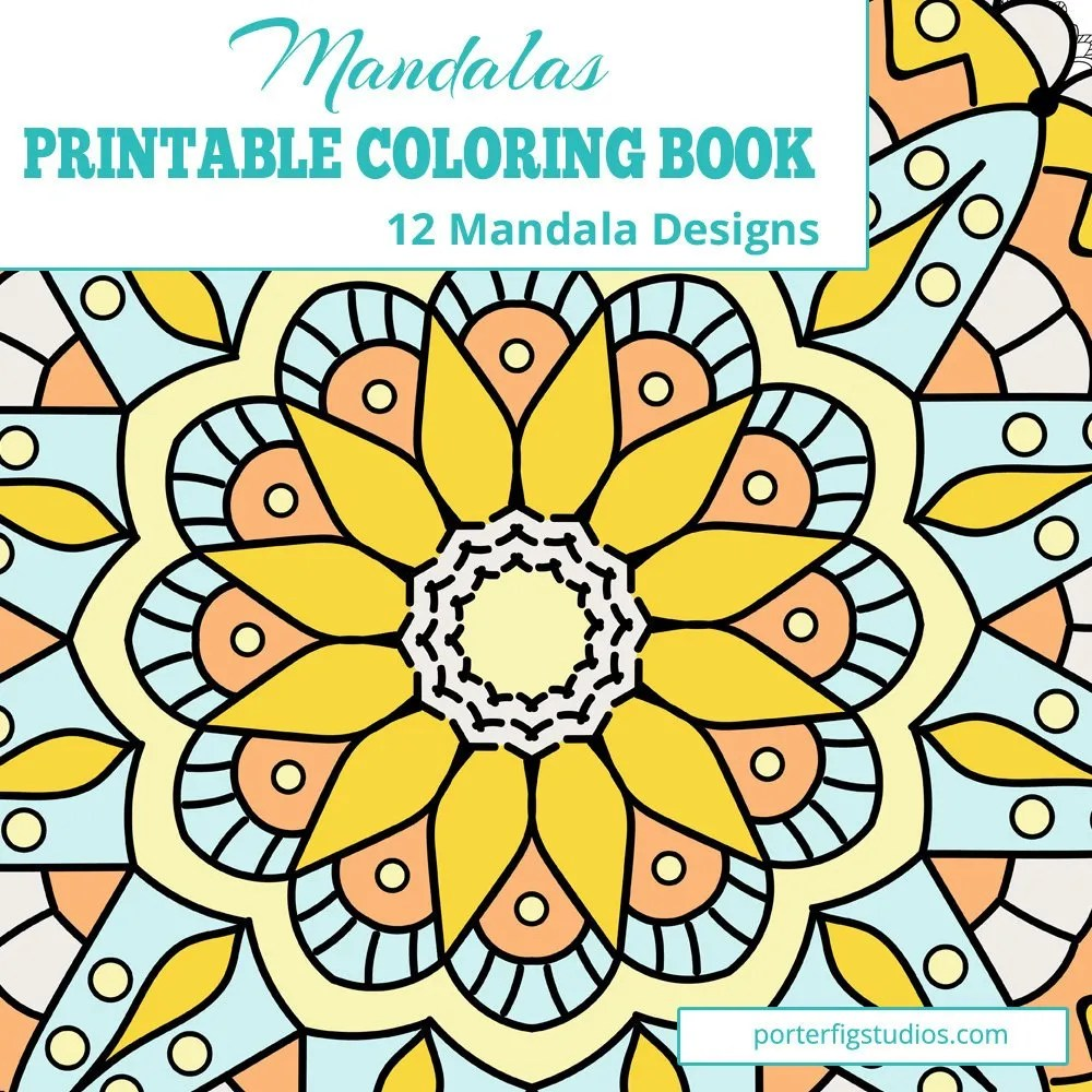 Printable mandalas coloring book