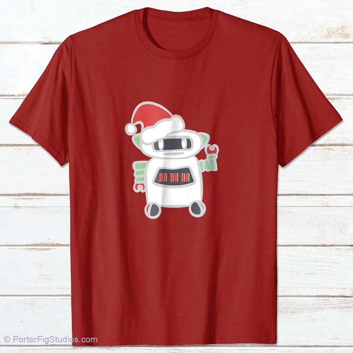 Robot Santa Claus Shirt Design