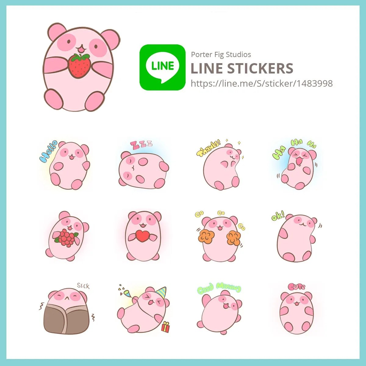 LINE store panda stickers