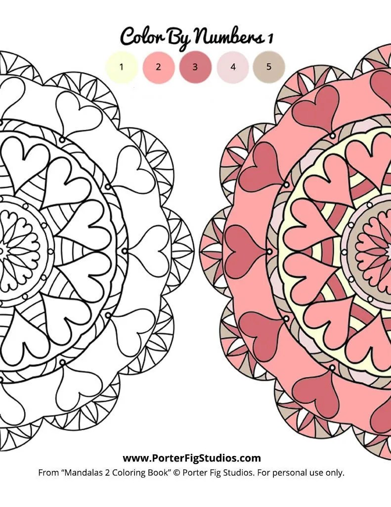 mandalas coloring page 1 by porter fig studios