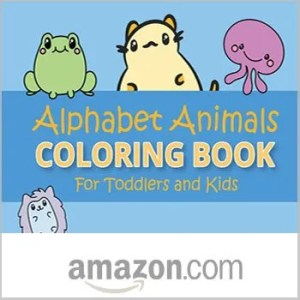 Alphabet animals coloring book