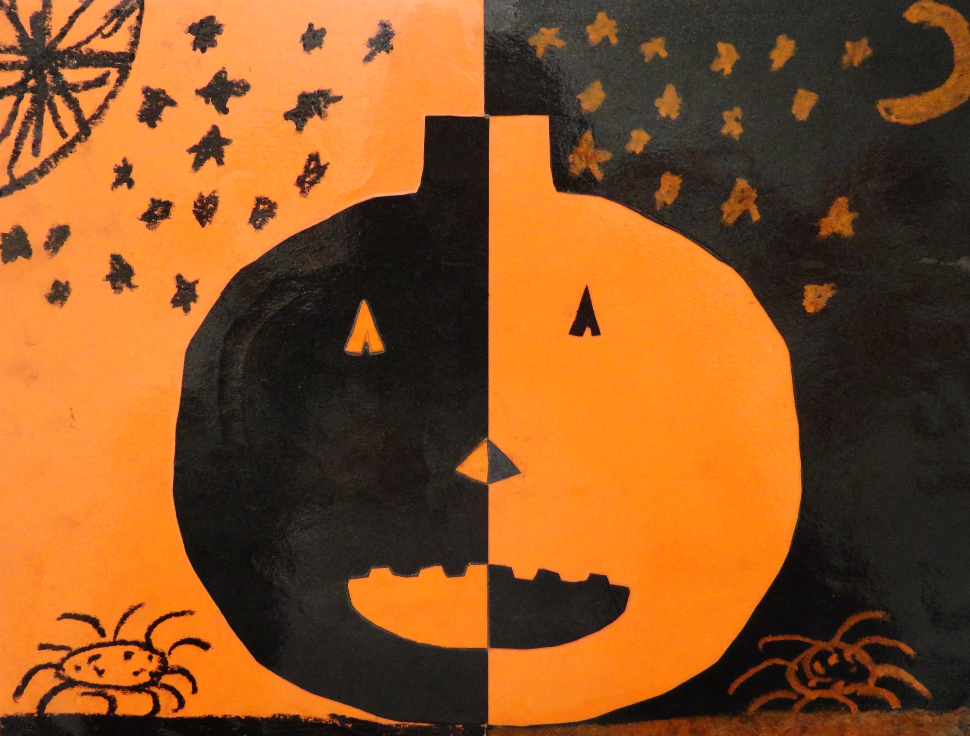 Postive Negative Space Jack O Lanterns