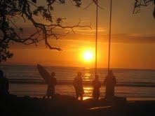 coucher de soleil, Costa RICA, plage, mer