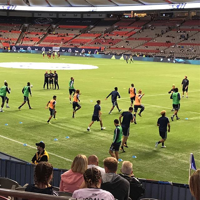 #whitecapsfc warming up for the game @bcplacestadium ..#vancouver #mls #soccer #vwfc - from Instagram
