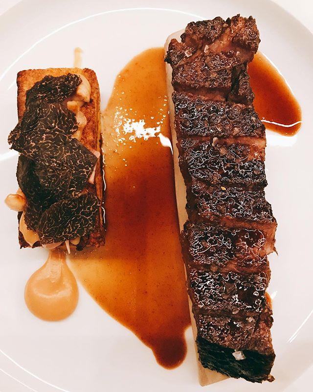 24 hour braised #shortribs with #brioche #garlic #truffle French toast @bauhausrestaurant ..#dinner #germanrestaurant #gastown #vancouver #yummy #food - from Instagram