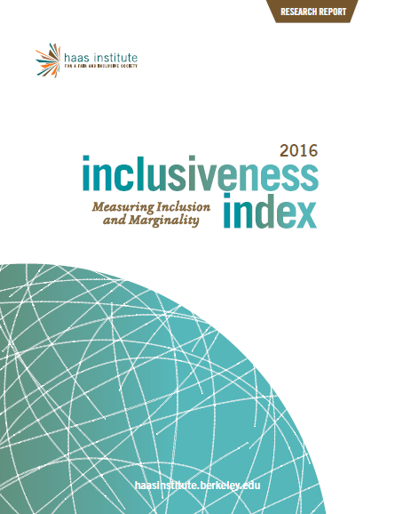 """Inclusiveness Index 2016: Measuring Inclusion and Marginality"" cover"