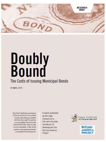 """Doubly Bound: The Costs of Issuing Municipal Bonds"" cover"