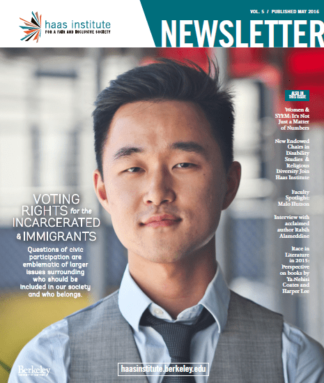 Haas Institute Fall 2015 Newsletter Cover