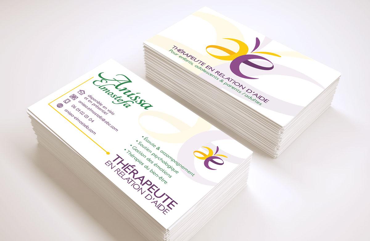 cartes de visite thérapeute