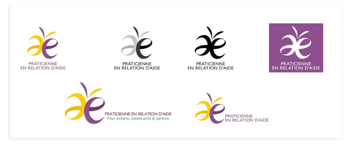 Logo thérapeute déclinaisons