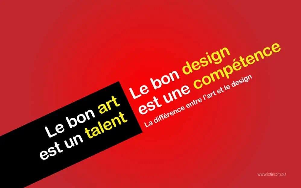 La différence entre l'art et le design (4/6)