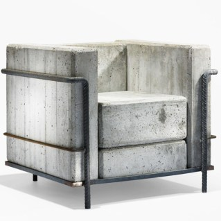 concrete corbusier chair