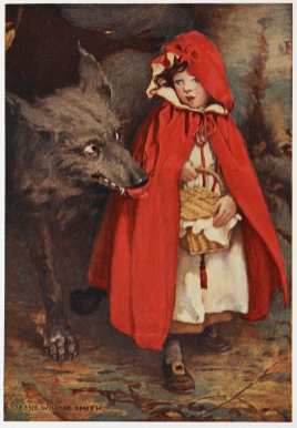 I believe the concept of the design in question can be traced back to the folktale of little red riding hood. The red coat and hood resembles that of the main character. https://userscontent2.emaze.com/images/916bed21-14e7-47a4-b3a2-3a1ebdf932cf/1da2bf00ce666f77a8c4dd0180a43f7c.png