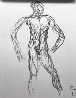 Gesture Drawing 4 (2m, 9/11)