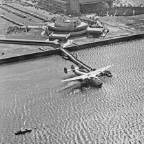 Across the field, the Marine Terminal became the port for flying boats that transported wealthy passengers to Europe.