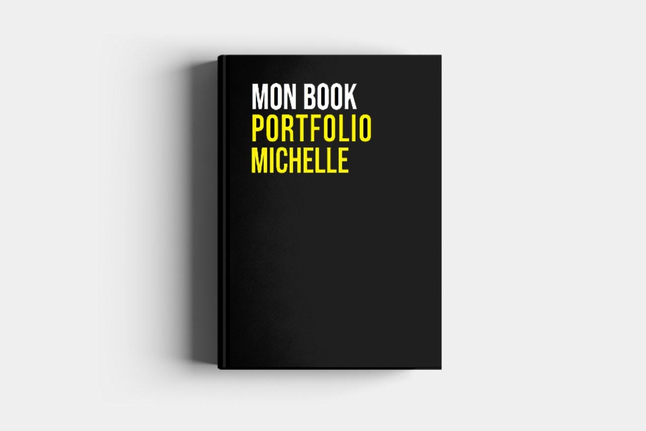 hardcover book portfolio