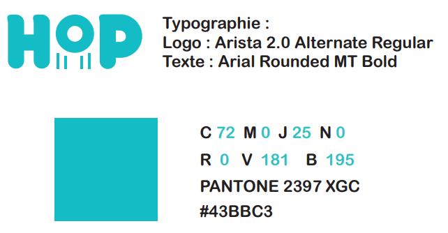 charte graphique logo trottinette HOP
