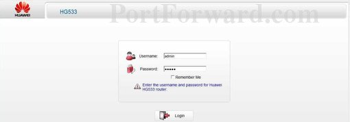 Simple Huawei HG533 Router Open Port Guide