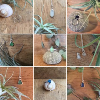 9 images showing a range of Porth jewellery