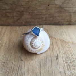 A small blue seaglass ring.