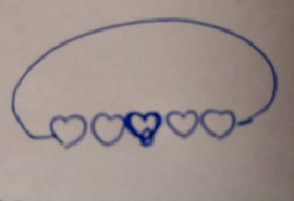 Heathers initial sketch for her commissioned bangle.