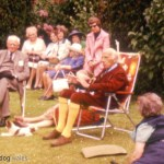 Clough Williams-Ellis at Brondanw in June 1975