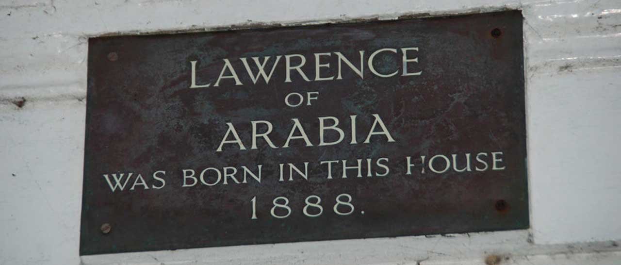 Lawrence of Arabia Plaque at Snowdon Lodge in Porthmadog