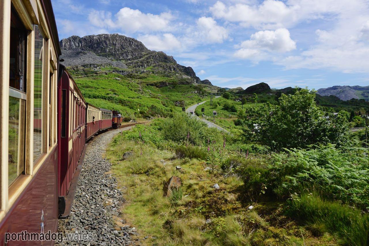The Ffestiniog Railway Approaching Tanygrisiau