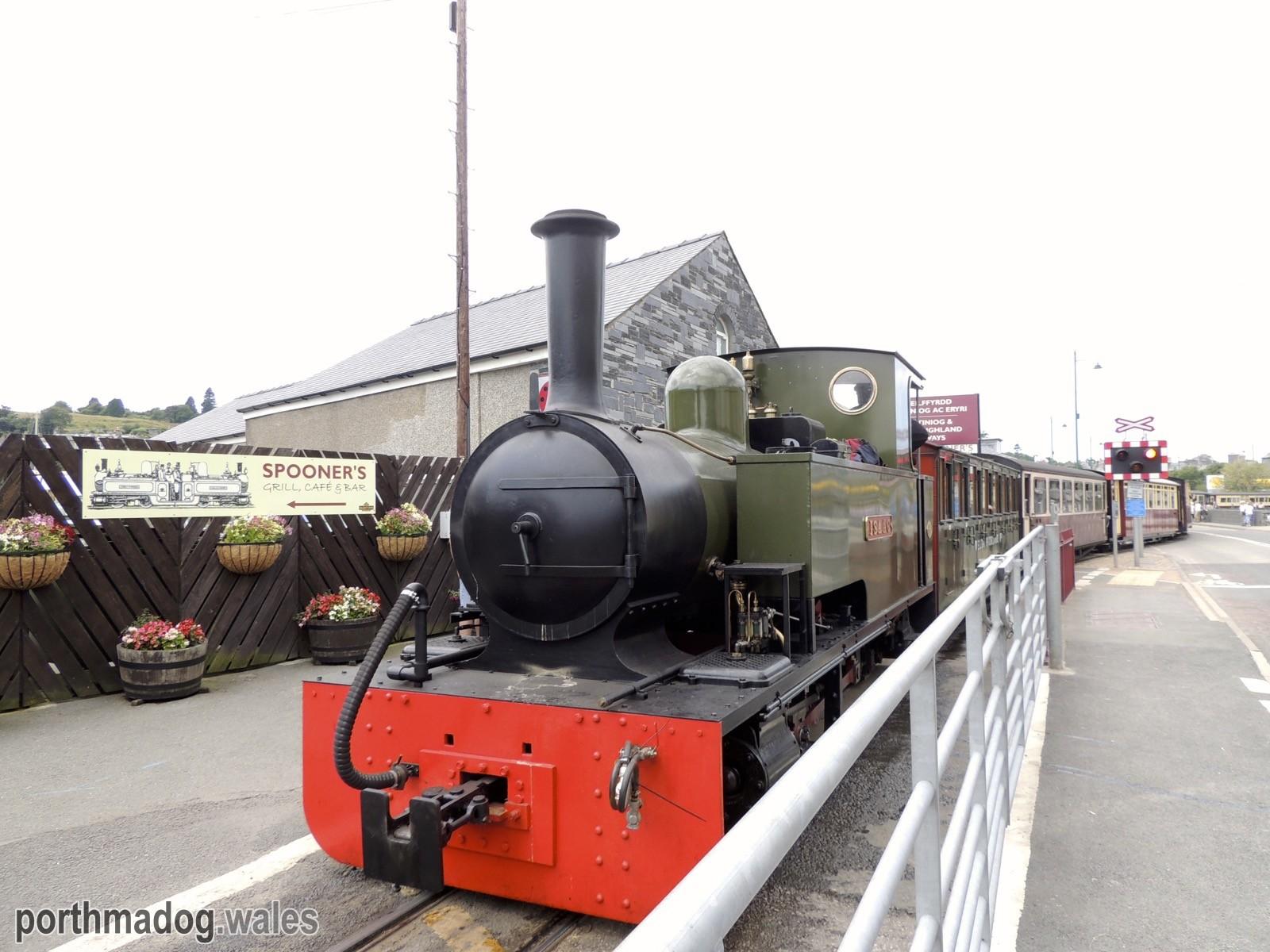 Welsh Highland Railway (Isaac Loco) in Porthmadog