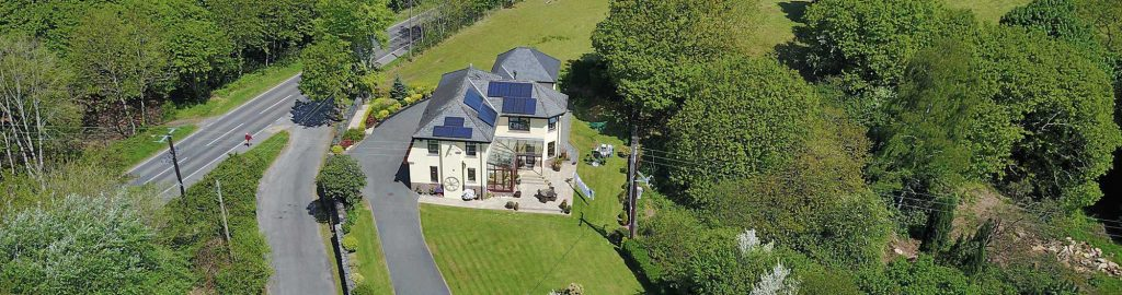 Penaber Bed & Breakfast from the Air