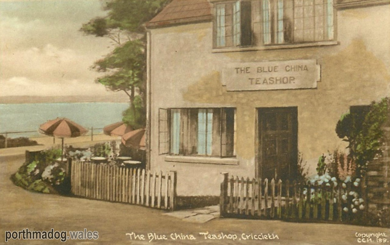 Postcard of The Blue China Tea Shop, Criccieth