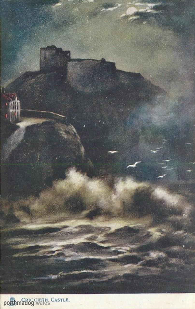 Criccieth Castle Painting (Postcard)