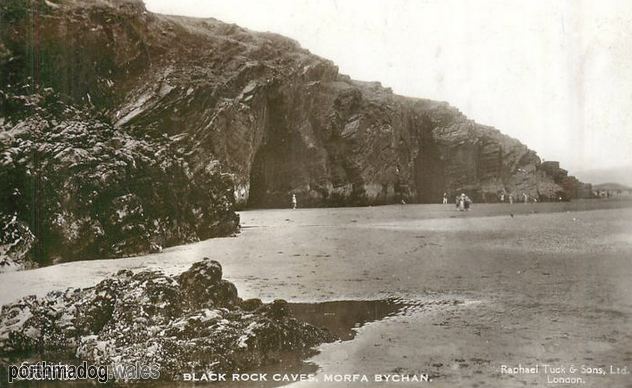 Postcard of Black Rock Caves, Morfa Bychan