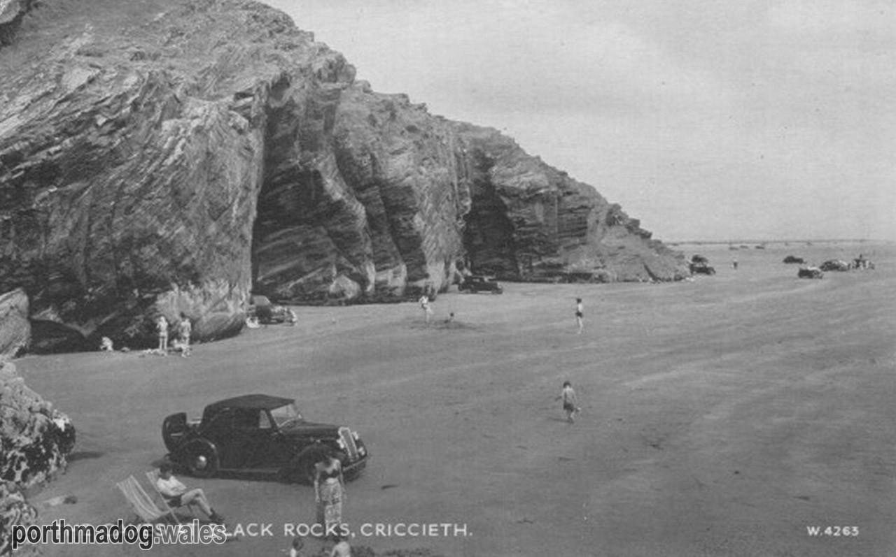 Postcard of Black Rock Caves, Morfa Bychan