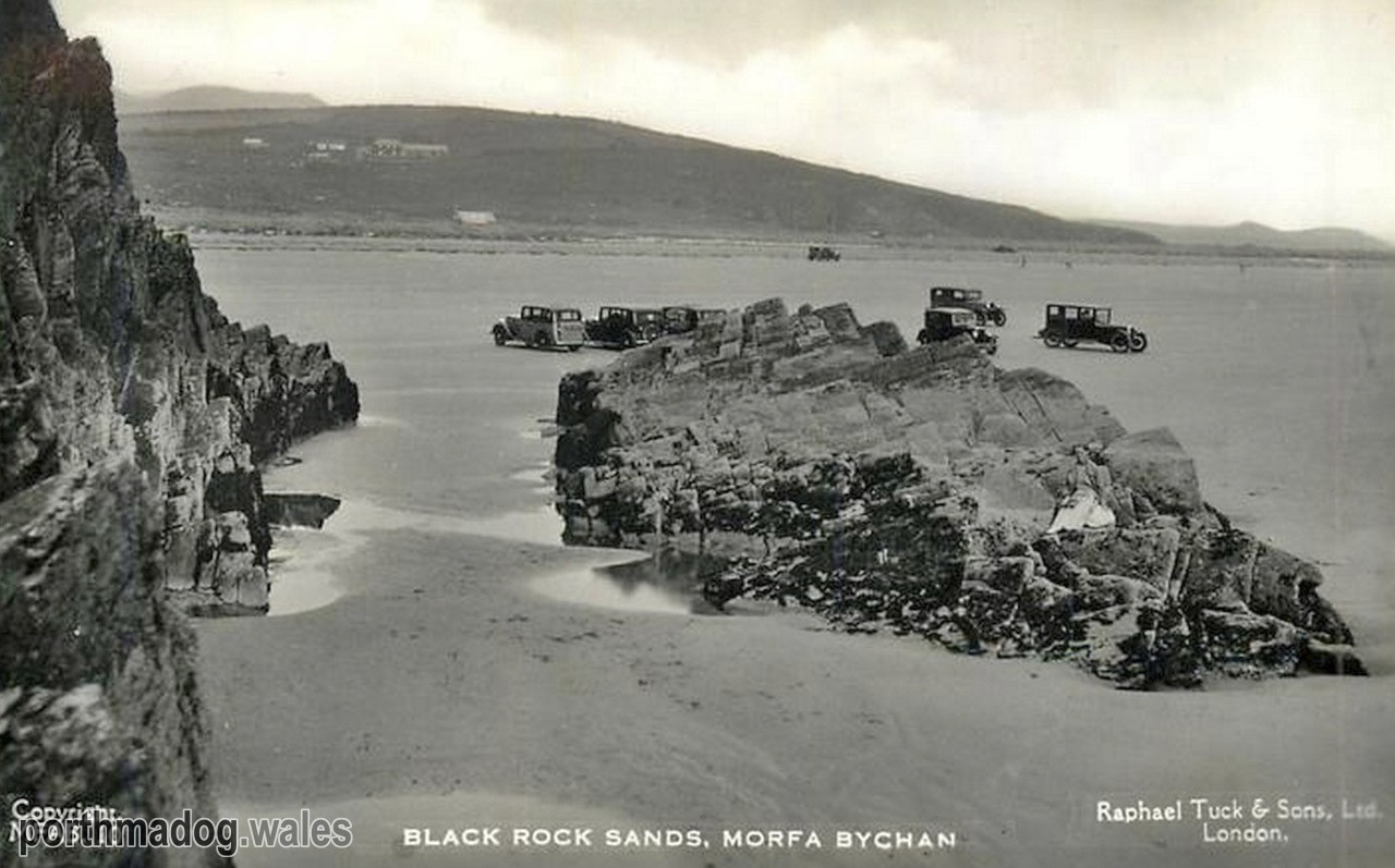 Postcard of Black Rock Sands, Morfa Bychan