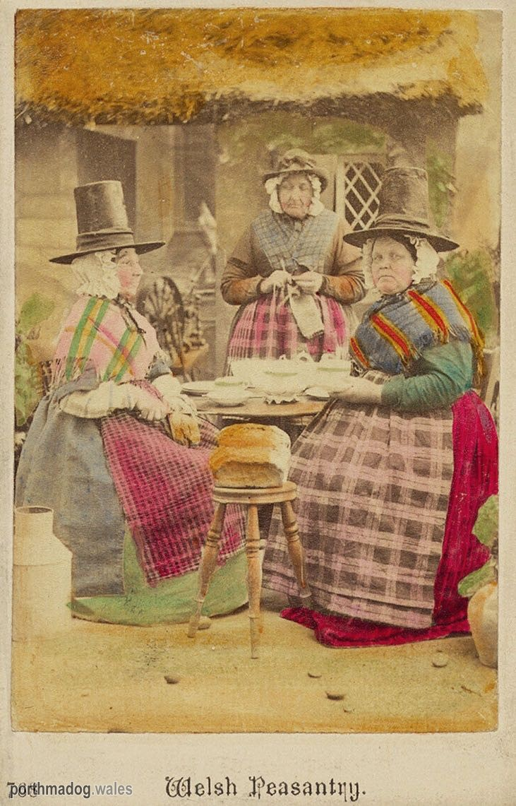 CDV of Welsh Ladies in Their Traditional Welsh Costumes