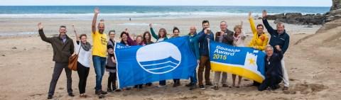 Blue Flag Presentation at Porthtowan Beach May 2015