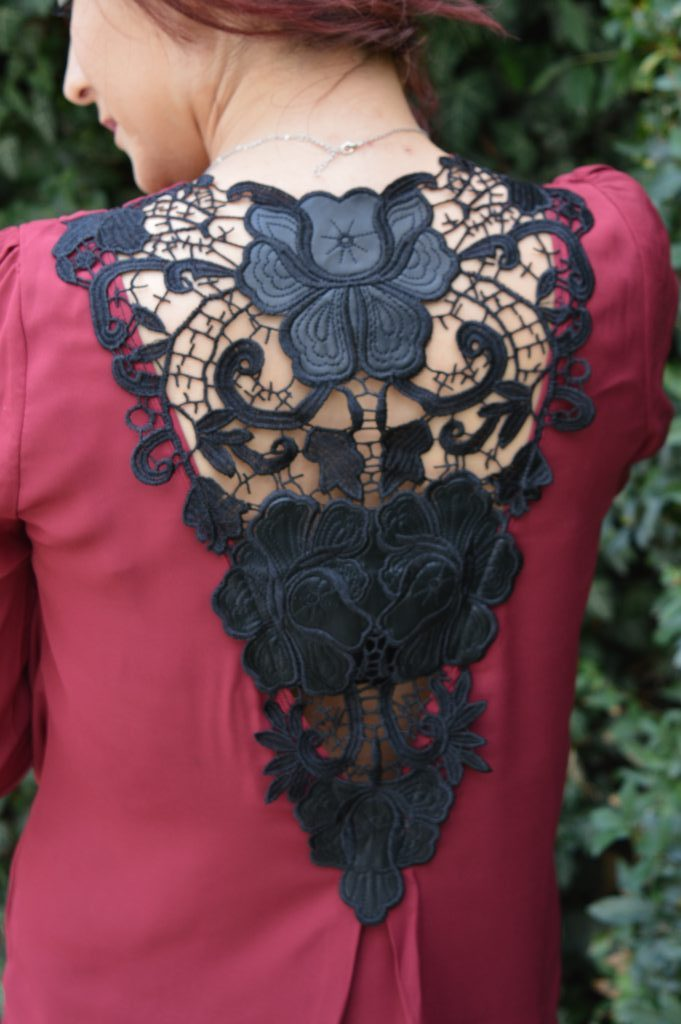 bluză de mătase Rosegal