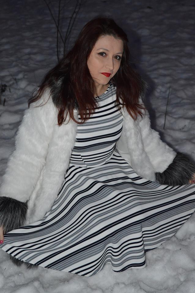 Rochie în dungi de la Rohboutique - OOTD