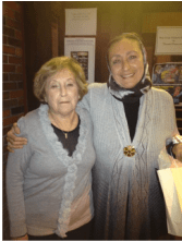Port Jeff Documentary  Series Board member Honey Katz with guest speaker Sanaa Nadim