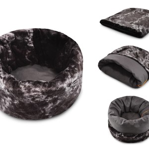 Snuggle Bed Charcoal Gray