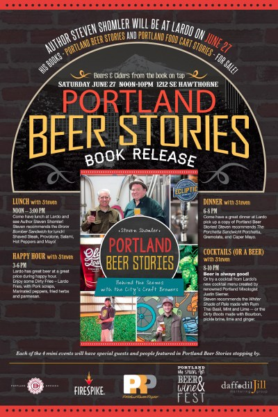 Portland Beer Stories Book Release Party at Lardo Poster-1