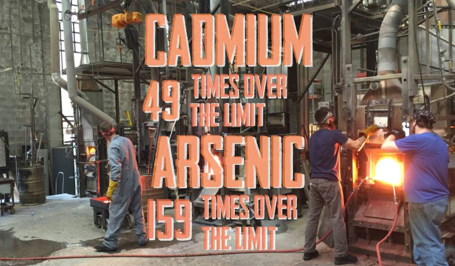 Cadmium 49 times over the limit, Arsenic 159 times over the limit
