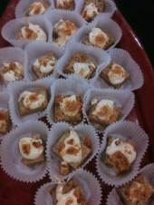 Capriel & John's Brown Butter Blondies with Caramel Ganache and Bacon Brittle