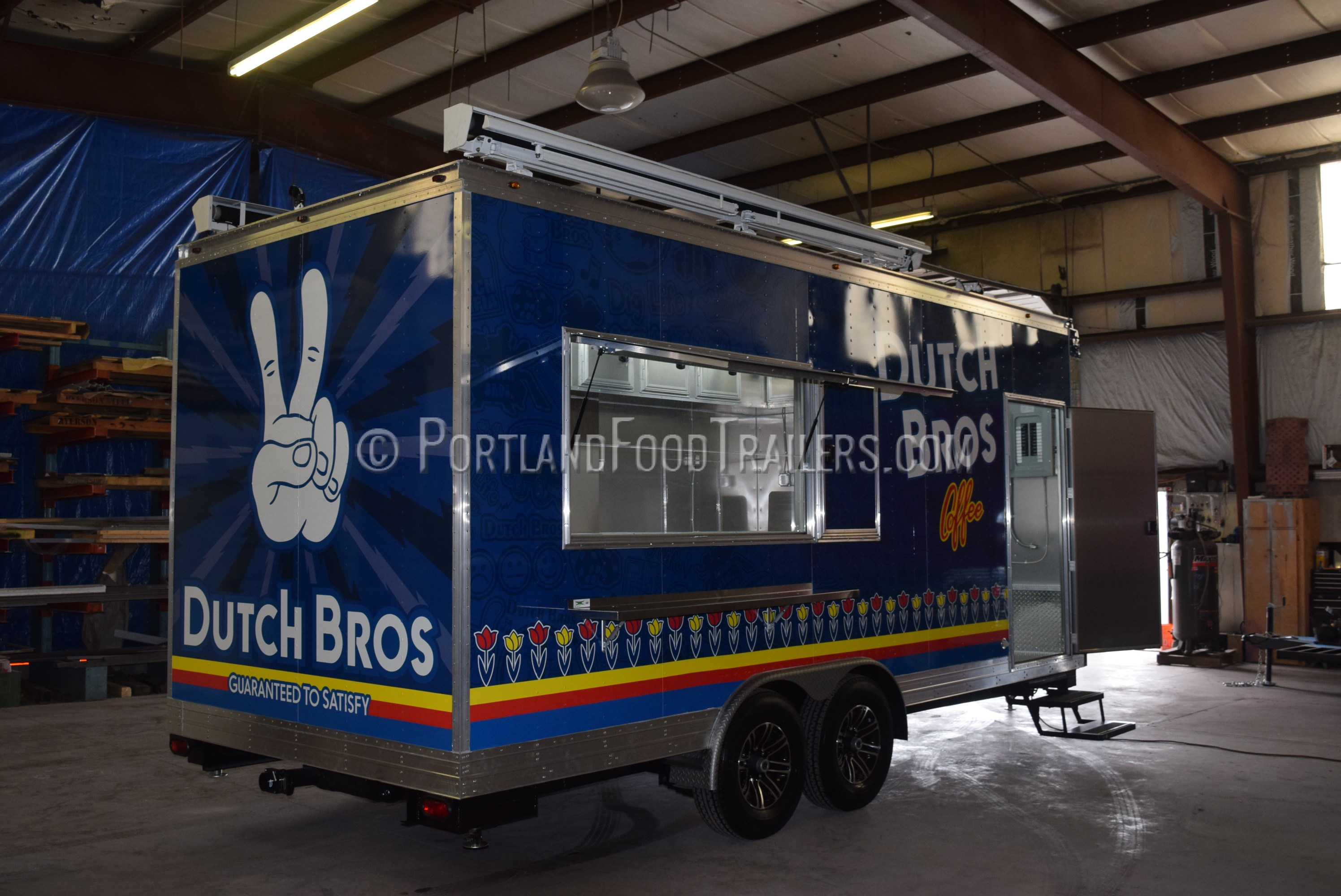 Custom Concession Trailer For Dutch Bros Coffee 20ft